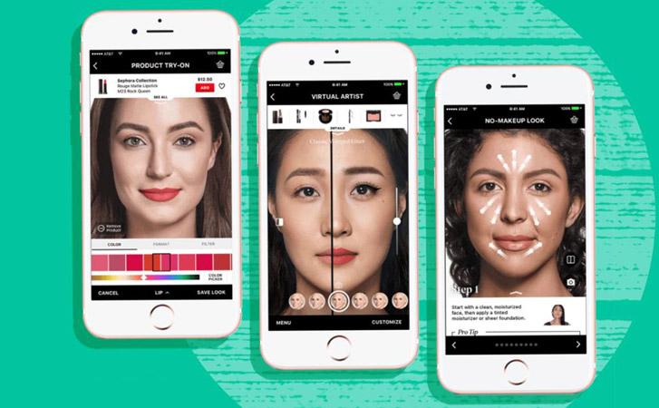 大发!社交、电商APP都可以虚拟试妆无缝衔接买买买