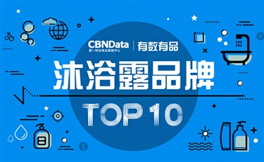 CBNData发布线上沐浴露十大品牌 透露了下一波爆款?