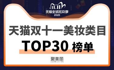 独家 | 双十一TOP30最全榜单出炉,4982亿的大蛋糕美妆分到了几成