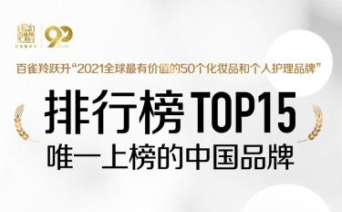 全球榜单中排名最高的中国美妆品牌,为什么是它?