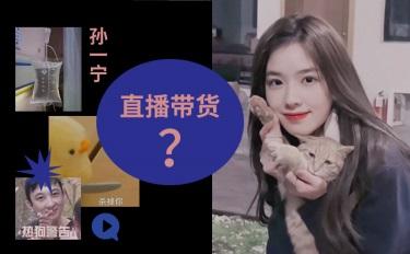 王思聪追求的孙一宁直播冲顶,美妆品牌会考虑合作带货吗?
